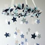 Star Mobile- Blue Nursery Mobile, S..
