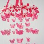 Butterfly Mobile in Cascading Pinks..