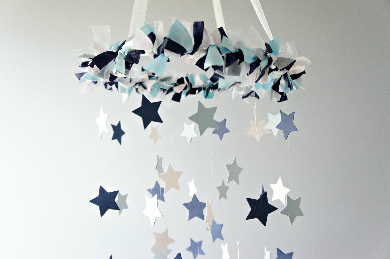 Star Mobile Blue Nursery Shower Gift Photographer Prop On Luulla